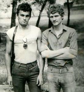 Сяржук Сыс і Алесь Бяляцкі. Гомель, 1983 год.