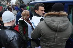 Затрыманне пад час пікету 10 снежня 2008 года ў Менску.