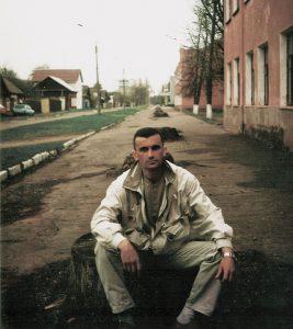 На вуліцы Песіна ў Гомелі ў 2005 годзе.